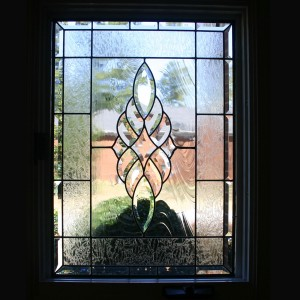 stained glass window beveled privacy