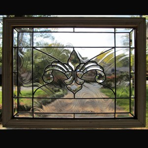 stained glass window fleur de lis privacy