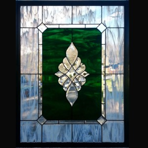 stained glass window beveled color green privacy