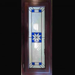 stained glass kitchencabinet bathroom cabinet insert color blue