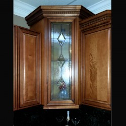 stained glass kitchencabinet bathroom cabinet insert bevels clear
