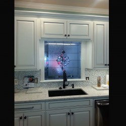 Kitchen Window Over Sink Beveled stained glass
